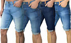 Mens Designer DML Denim Shorts Jeans Turnups Vintage Retro Pants Blue Dressy