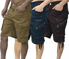 Mens Designer Zico Chino Shorts Cargo Combats Regular Fit Pants Work Trousers