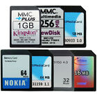 16/32/64/128/256MB 1GB MMC MultiMedia Memory Card MultiMedia​Card+Plus 7Pins