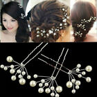 6Pcs Wedding Bridal bridesmaid Pearl Flower Headpiece Hair Pin Hairpin Jewelry