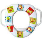 Easy Grip Handles Baby Soft Toilet Potty Trainer Seat Jungle Animals Multicolor image