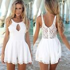 2015 Sexy Women Lace Skirt Party Evening Summer Lady Jumpsuit Mini Short Dress