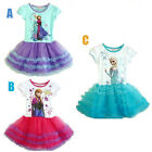 Princess Girl Kids Queen Elsa Cosplay Frozen Costume Party Fancy Dress Uk Seller