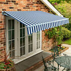 Standard Manual Awning Garden Patio Sun Shade Canopy Retractable Shelter 300GSM