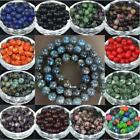 New Natural Smooth Gemstone Round Loose Beads 4-12mm Assorted Stones Gem