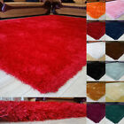 Luxury Soft Silky 6CM Pile Shaggy Rug Plain Thick Small X Large Shimmer Modern