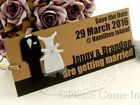 Personalised Forever Couple Kraft Save the Date Tags