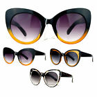 SA106 Womens Thick Plastic Oversized Retro Cat Eye Designer Sunglasses