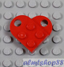 LEGO - Heart Charm - PICK YOUR COLORS 3x2 Plates w/ Hole Love Valentine Coupling