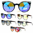 SA106 Womens Marble Texture Art Deco Brow Jewel Round Sunglasses