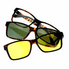 Magnetic Polarized Antiglare Driving Lens Clip On Sunglasses Optical Glasses