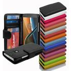 PU Leather Smartphone Protection Case Cover Book Style Wallet Etui & Card Slot