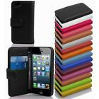 PU Leather Smartphone Protection Case Cover Book Style Wallet Card Slot Etui