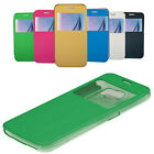 High Quality Flip Case Cover Stand Window PU Leather Case for Samsung Galaxy S6
