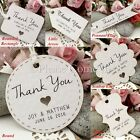 Personalised Mini White Wedding Favour Tags/ Thank You Tags/ Gift Tags