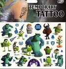 MONSTERS INC DISNEY Temporary Tattoos Brand New and Fully Sealed