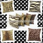 Animal Faux Fur Bed Sofa Throw Pillow Cover Cushion Case Home Decor Square MPF