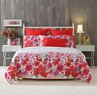 New Bianca Makayla Quilt Cover Set Single/Double/Queen/Super/King Cushion Red