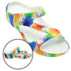 Women's Dawgs Z Sandals Loudmouth Drop Cloth Paint Splatter Slide Arch Support