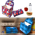 """2 Packit PK2 Freezable Fold-Top 8"""" Lunch Bags Gel Lined Reusable Freezer/Cooler"""