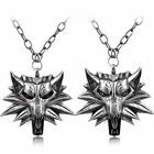 The Witcher Geralt of Rivia Medallion Wolf Head Pendant Necklace Chain Metal New