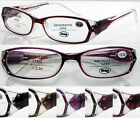 L145 Super Fashion Womens Diamante Reading Glasses Spring Hinges Super Value+200