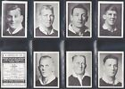 AFRICAN TOB. - NZ & AUS RUGBY PLAYERS 1937 M80 (NUMBERS 01-25) SELECT YOUR CARD.