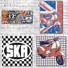 Scooters and Ska Art Canvas Print - Mod lambretta vespa subculture Northern Soul