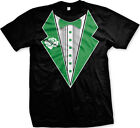 St. Patrick's Day Irish Drinking Tuxedo Shamrock Drunk Funny Joke Mens T-Shirt