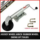 "HUGE SPECIAL!Heavy Duty Swing up Trailer Jockey Wheel 6"" with u bolt fitting kit"