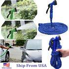 New 75 100 Feet Expandable Flexible Garden Water Pocket Hose Spray Nozzle