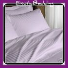 Lavender Stripe 4-Piece Bed Sheet Set 1200 Thread Count Egyptian Cotton