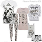 Disney Ladies  Pj Short Set Womens Pyjamas Leggings T Shirt  Uk 6-20 Primark New