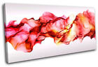 Red Smoke  Abstract CANVAS WALL ART Picture Print VA