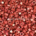Red Anodised Alloy Hex Nut - Choice Of Size Metric M4 M5 M6