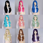 Fashion 13 Colors Women Lady Style Wavy Design Anime Cosplay Hair Wig+Wig Cap