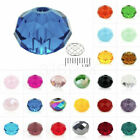 5040 72pcs Crystal Czech Loose Spacer Glass Diy Beads 6.5x8mm Rondelle Faceted