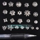 30pcs 5-16mm Tibetan Silver Metal Crafts Findings Loose Spacer Bead Beads Caps
