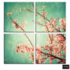 Vintage Cherry Blossoms  Floral BOX FRAMED CANVAS ART Picture HDR 280gsm