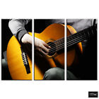 Acoustic Guitar  Musical BOX FRAMED CANVAS ART Picture HDR 280gsm