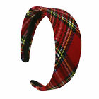 Plaid Wide Headband women Girl Fahionsolid Hair accessories