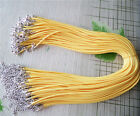 wholesale fashion Braid 2mm Round waxed cord Necklace Choker w / Lobster Clasp