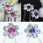 10x Crystal Rhinestone Flower Prom Wedding Bridal Hairpins Clip Hair Accessories