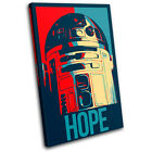 Sci Fi Iconic Film Hope Abstract SINGLE CANVAS WALL ART Picture Print VA