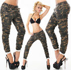 Women's Military Skinny Hipster Boyfriend Jeans Baggy Harem Pants 6,8,10,12,14