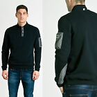 MENS DESIGNER WEEKEND OFFENDER SWEATSHIRT PULLOVER JUMPER BUTTON DOWN MONT BLANC