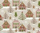 CHRISTMAS GINGERBREAD WIPE CLEAN OILCLOTH COVER PVC TABLECLOTH click for sizes