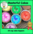 24 BABY SHOWER MIXED CUPCAKE TOPPERS, PREMIUM WAFER PAPER OR ICING SHEET BSM02