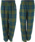 Disney Goofy Embroidered Green Blue Orange Plaid Mens Lounge Sleep Pants Pjs