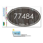 Texas TX Zip Code  77386-77566 Euro Oval Window Bumper Glossy Laminated Sticker